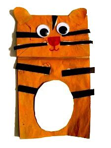 Chinese new year crafts for kids on pinterest chinese for Tiger puppet template