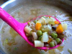 Minestrone soup Soups, Oatmeal, Breakfast, Food, The Oatmeal, Morning Coffee, Rolled Oats, Eten, Soup