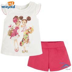 Conjunto de niña MAYORAL camiseta niñas y short de algodón