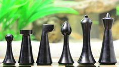 ... Modern Mid Century Minimalist Hermann Ohme Weighted Chess Set | eBay