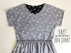 gratis patroon jurk zonnige zomerjurk Sewing For Kids, Baby Sewing, Sewing Clothes, Diy Clothes, Make Your Own Clothes, Little Dresses, Dress Patterns, Pattern Dress, Diy Fashion