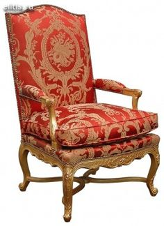 Louis Xiv Fabric Upholstered Furniture Settee Armchair Xv French Country Style