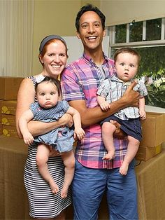 Meet Danny Pudi's Twins Fiona and James – Moms & Babies – Moms & Babies - People.com