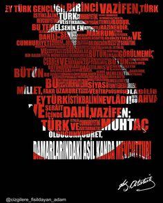 Her kafanın anlamaktan aciz ol Great Leaders, Flag, Classroom, Education, Movie Posters, Football, Nice, Turkish People, Father