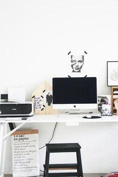 Workspace #office #apple #imac #white #interior #design