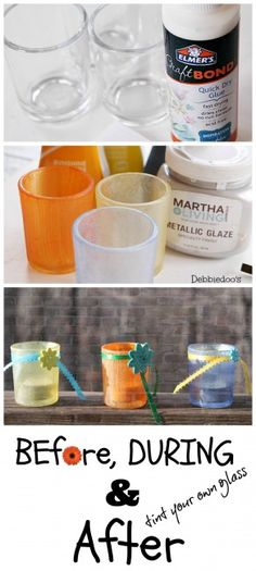 Tint your own glass with #ritdye and #Elmers