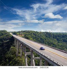 High bridge - stock photo