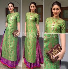 Yay or Nay : Kareena Kapoor Khan in Payal Khandwala Kareena Kapoor Khan, Mahira Khan, Kurta Designs, Dress Designs, Indian Attire, Indian Wear, Patiala Salwar, Anarkali, Lehenga Choli