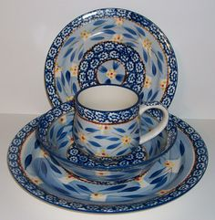 temptations dinnerware old world | TEMP-TATIONS TEMPTATIONS 4PC DINNERWARE SET-OLD WORLD BLUE - NEW-SHOP ...
