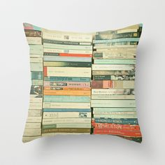 Bookworm by Cassia Beck --- Throw Pillow made from 100% spun polyester poplin fabric, a stylish statement that will liven up any room. Individually cut and sewn by hand, each pillow features a double-sided print and is finished with a concealed zipper for ease of care. Sold with or without faux down pillow insert.
