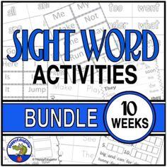 Dolch Sight Word List, Sight Words List, Fluency Activities, Sight Word Activities, Love Teacher, Teacher Pay Teachers, High Frequency Words, Early Literacy, Summer School