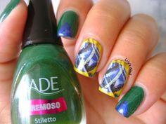 Lily's Nail: Inspiração nail art para a Copa do mundo 2014!