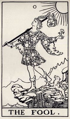 The Fool    from The Occult Review 1909 December issue.  William Rider and Son, London, 1909.  The most authentic and earliest RWS drawingsh.