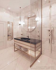 ДИЗАЙН ИНТЕРЬЕРА СПБ в Instagram: «Всем доброго, солнечного утра пятница ! ☀️ ⠀ Я уже вам показывала несколько видов ванной комнаты в ЖК МОНОПОЛИСТ (можно посмотреть тут 👉🏻…» Divider, Chair, Room, Furniture, Home Decor, Bedroom, Decoration Home, Room Decor, Rooms