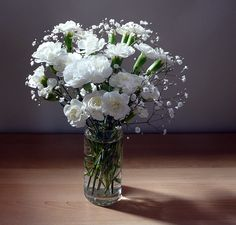 Favourite flowers ... Carnations and Baby's Breath