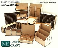 Large selection of laser cut storage boxes. Large selection of laser cut storage boxes.