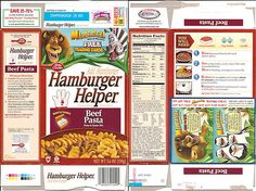 2005 General Mills Hamburger Helper Box w/ Madagascar by gregg_koenig, via Flickr