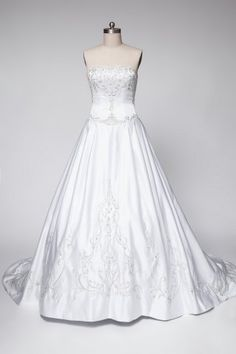 Cheap 2015 Glorious Satin Princess Wedding Garment Featuring Delicate Embroidery and Petal Court Train wedding dress by jasmine f873