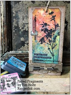 Our Signature Designer Tim Holtz shares this great Faded Fragments tutorial featuring the Distress® Oxides. Find Tim's tutorial in our Projects Library: Faded Fragments by Tim Holtz Tim Holtz Dies, Tim Holtz Stamps, Distress Ink Techniques, Art Techniques, Tim Holtz Distress Ink, Ranger Ink, Distress Oxide Ink, Ink Pads, Copics
