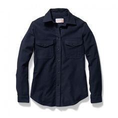 Women's Moleskin Shirt - Navy - XS