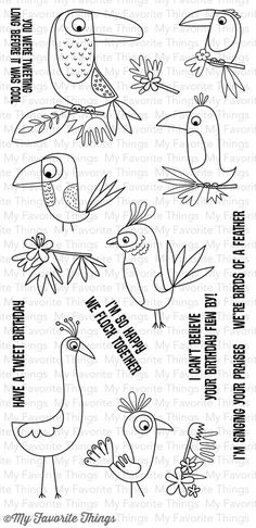 Birds of Paradise            My Favorite Things stamps           $17.99