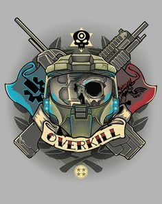Overkill T-Shirt $10 Halo Master Chief tee at ShirtPunch today only!