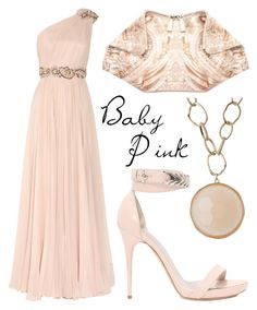 """""""Baby Pink"""" by missloulouxx ❤ liked on Polyvore featuring Marchesa, Leslie Danzis and Alexander McQueen"""