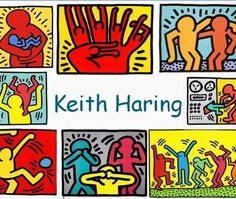 Art from many artists and of many genres. Good for a quick ID. Not in English. will have to look elsewhere for specific info. Keith Haring Art, School Murals, Art History Lessons, Elementary Art, Artist, Artist Project, Keith, Pop Art