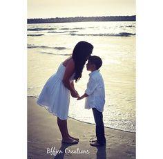 #motherandson #sunset #beachshoot #kiss