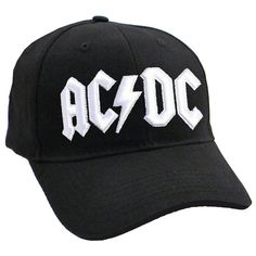 0fd50542ab02b AC DC Classic White Logo strap back Baseball Cap - Paradiso Clothing