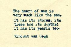 '…like the sea' – vincent van gogh