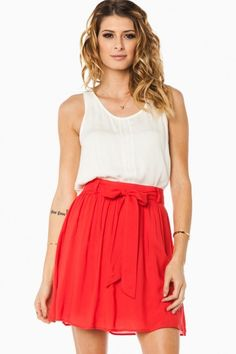 Powell skirt in red #fashion