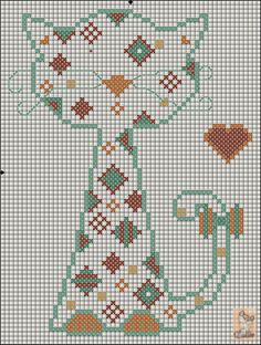 Cross-stitch Patchwork Cat... no color chart available, just use pattern chart as your color guide... Gallery.ru / Фото #87 - котики - anapa-mama