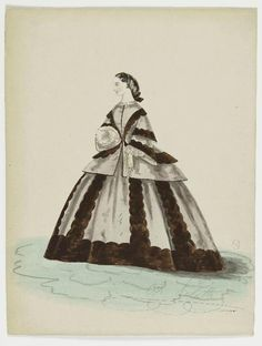 Fashion Plate ca. 1855-65 | In the Swan's Shadow
