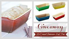 Giveaway: Le Creuset Heritage Stoneware 1 1/2qt Loaf Pan ~ $29.95 Value