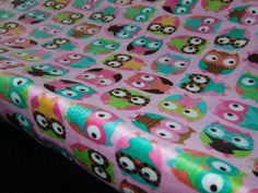 MINKY Changing Pad Cover in Pink Owl Minky  by tarascozycreations