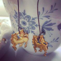 prancing unicorn earrings by SuperFantasticJulie on Etsy, $12.00
