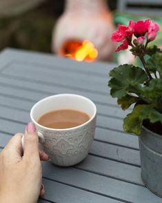 How I forgot cosy chiminea warmed nights with a mug of tea before bed. Is there anywhere better than Home? Tea Before Bed, Chiminea, Cosy, Patio, Mugs, Tableware, Garden, Dinnerware, Garten