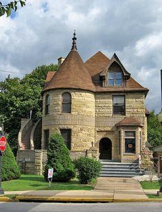 Historic stone Victorian home in Steubenville Abandoned Houses, Old Houses, Steubenville Ohio, Victorian Homes, Victorian Era, Second Empire, Victorian Architecture, Close To Home, Country Estate