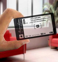 tarjeta de visita en forma de LCD de la cámara para el fotógrafo