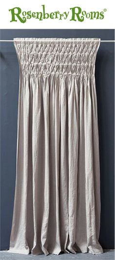 Dress up your child's room with the Smocked Curtain Panel from Pom Pom at Home.  Featuring a classic, timeless style and natural linen fabric