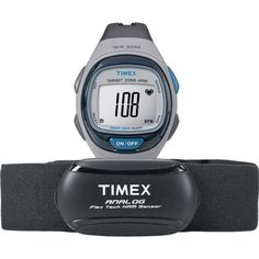 Timex Unisex Personal Trainer Analog Heart Rate Monitor Watch, Resin Strap   Chest Strap Sensor Deal