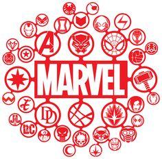 Drawing Marvel Comics Marvel Icons Style Guide on Behance - Marvel Comics, Marvel Room, Marvel Art, Marvel Avengers, Ms Marvel, Captain Marvel, Avengers Symbols, Marvel Paintings, Marvel Tattoos