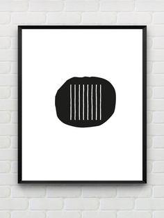 abstract geometric wall art, scandinavian black and white print, modern home decor, minimalist wall art, black and white wall decor