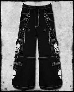 ff1f38560067 TRIPP NYC SUPER SKULL PANTS - BLACK   WHITE