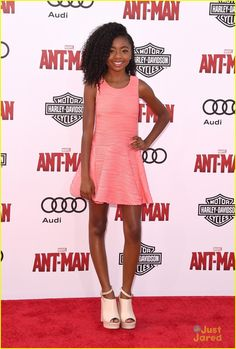 Skai Jackson at the premiere of Marvel's 'Ant-Man'