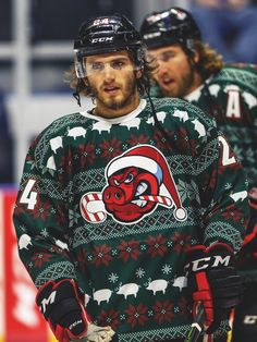 Ryan Hartman in Rockford. Those poor guys. These sweaters are ridiculous.