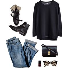 A fashion look from April 2013 featuring CÉLINE handbags en Isson sunglasses. Browse and shop related looks.