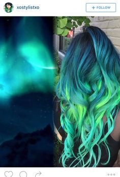 Trend Watch: Galaxy Hair Have you seen galaxy hair yet? It is the internet's newest, coolest trend. This vibrant hair color is made up of differe. Vibrant Hair Colors, Cute Hair Colors, Pretty Hair Color, Beautiful Hair Color, Hair Dye Colors, Colorful Hair, Different Hair Colors, Rainbow Hair Colors, Dye My Hair