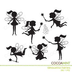 Fairy pattern. Use the printable outline for crafts